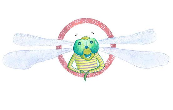 Dragonfly illustration for kids