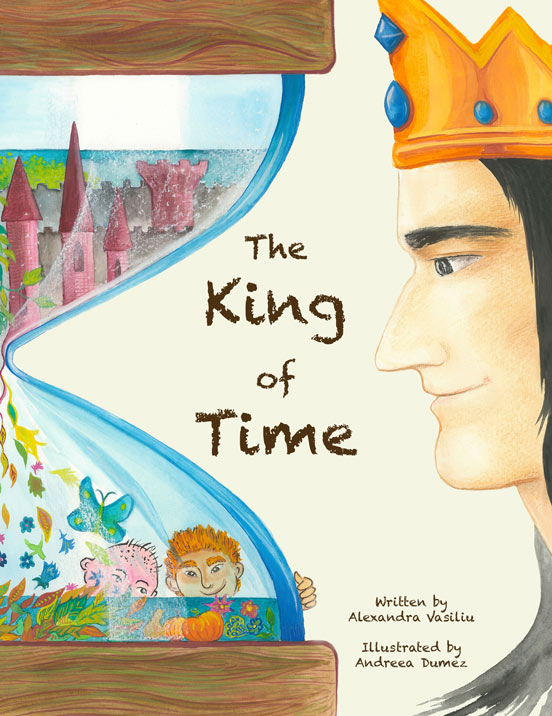 The King of Time children's book front cover
