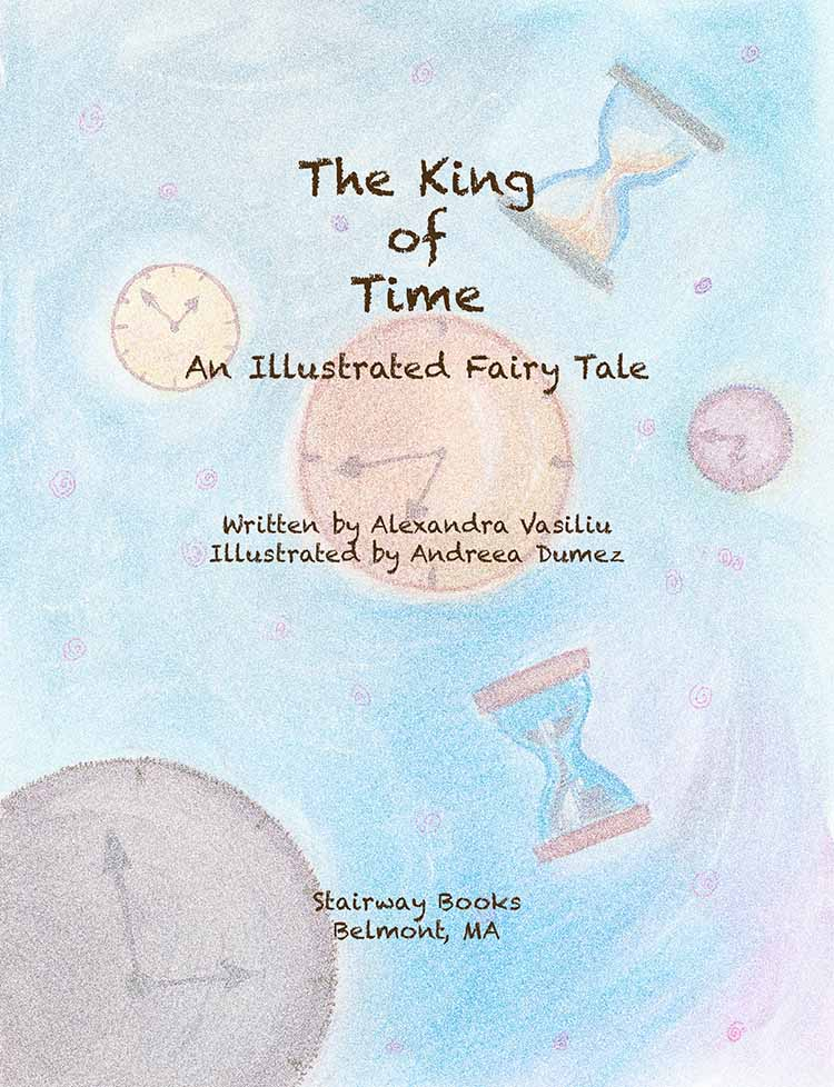 "Title page for the children's book ""The King of Time"""