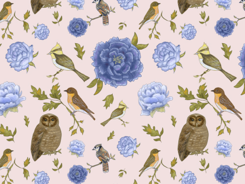 Birds and flowers #4