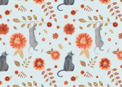 Cats climbing flowers 2