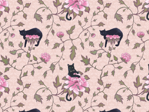 Cats climbing flowers 4