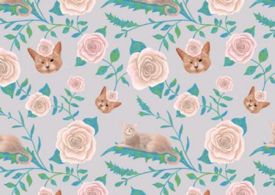 Kiki queen cat – floral pattern