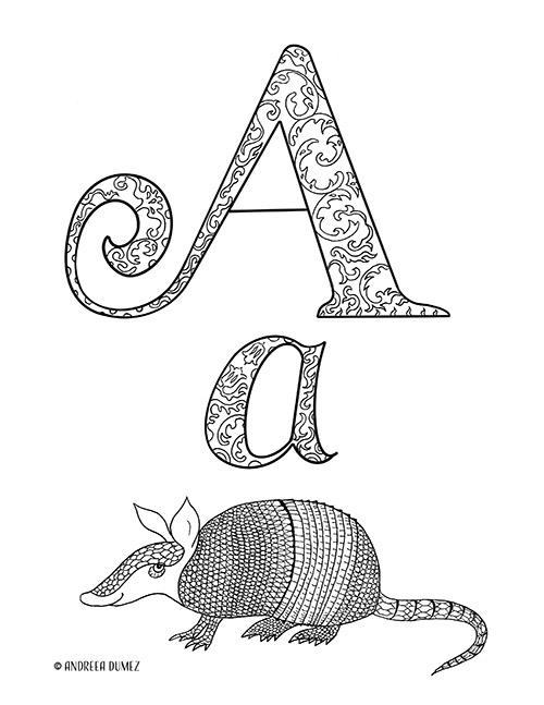 Alphabet-A-lettersize