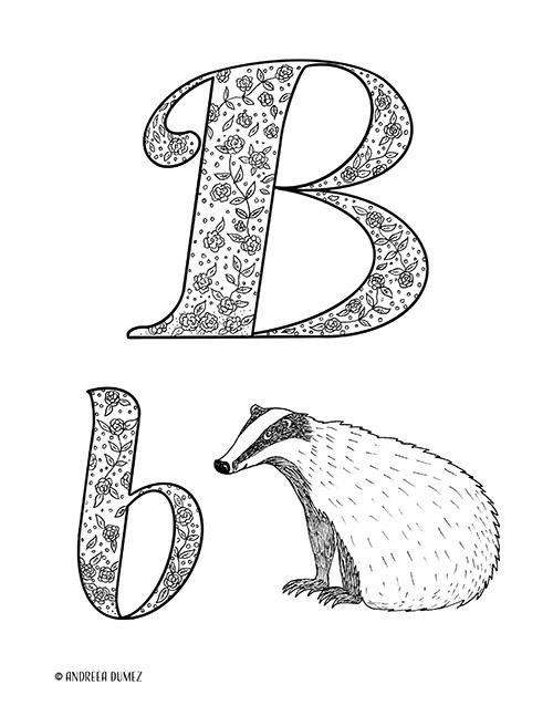 Alphabet-B-lettersize
