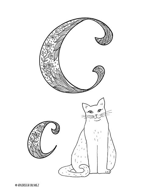 Alphabet-C-lettersize