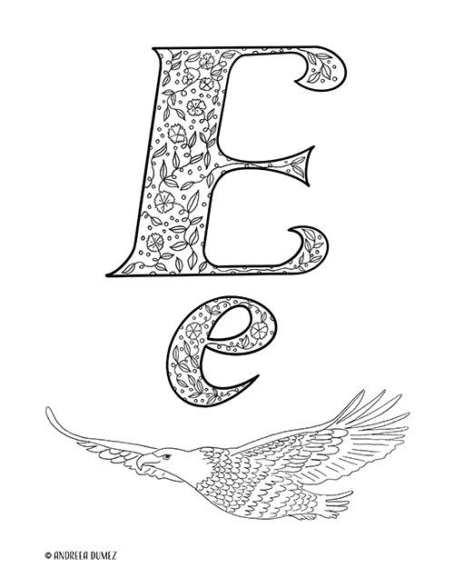 Alphabet-E-lettersize
