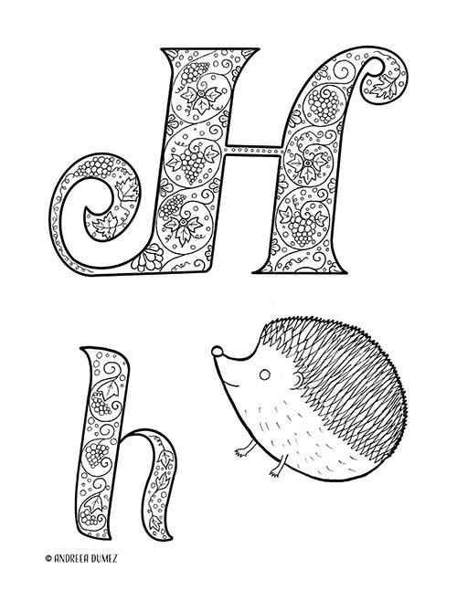 Alphabet-H-lettersize