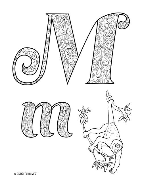 Alphabet-M-lettersize