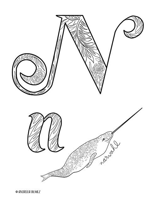 Alphabet-N-lettersize