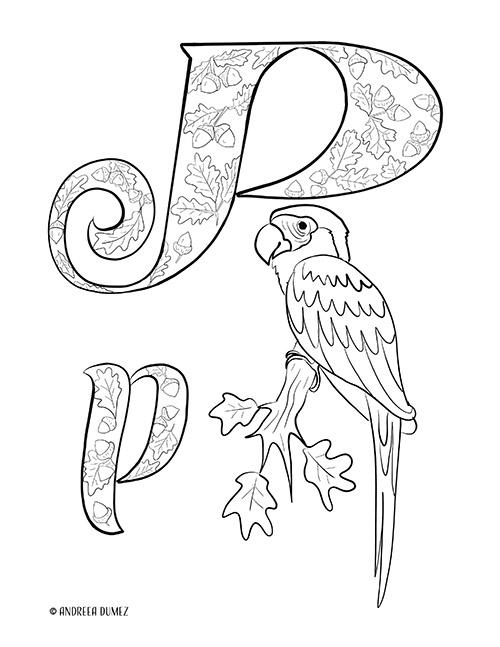 Alphabet-P-lettersize