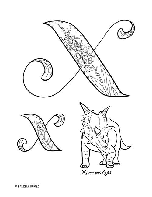 Alphabet-X-lettersize