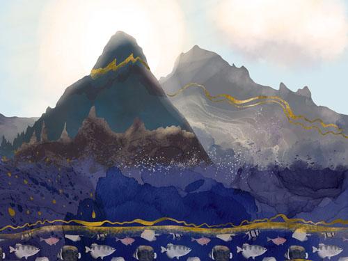 Mountains Meet the Ocean