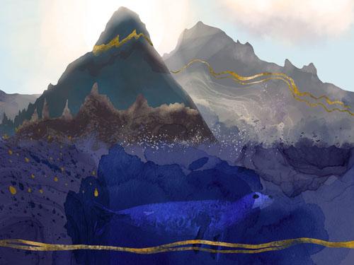 Seal Under a Melting Glacier