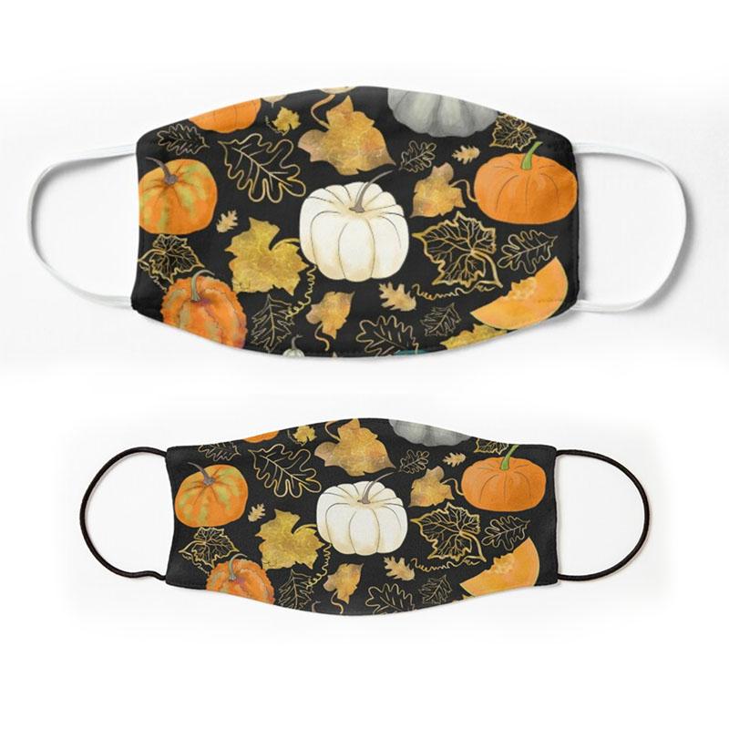 Harvest of the golden Season - Halloween Pumpkin Masks for adults and children