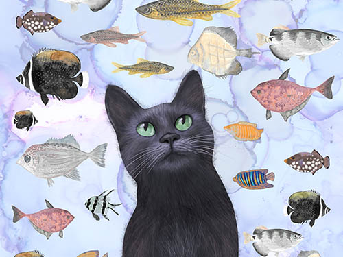 Cat Art Prints for Feline Lovers