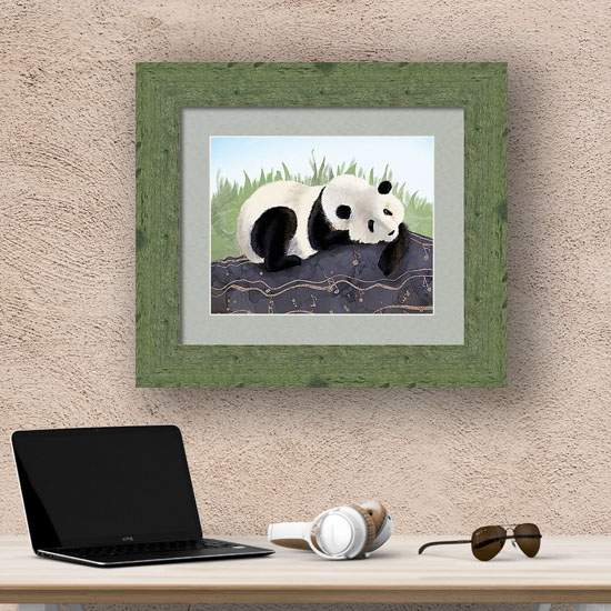 Framed art print of a Panda Bear from Fine Art America