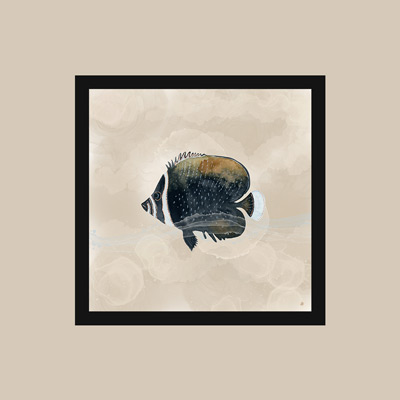 Fish watercolor wall art and how to match wall art to wall pain.