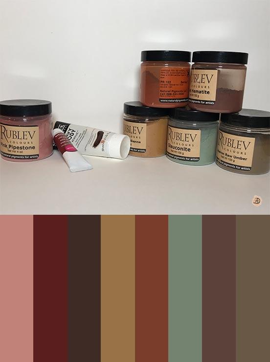 Natural Earth Pigments Color Palette