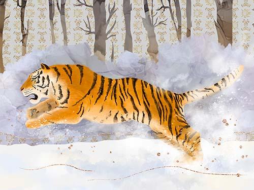 Siberian Tiger Art