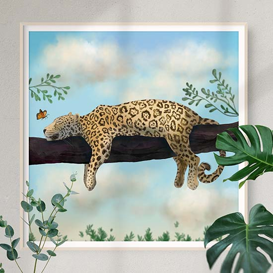 Society6 Jaguar art by Andreea Dumez