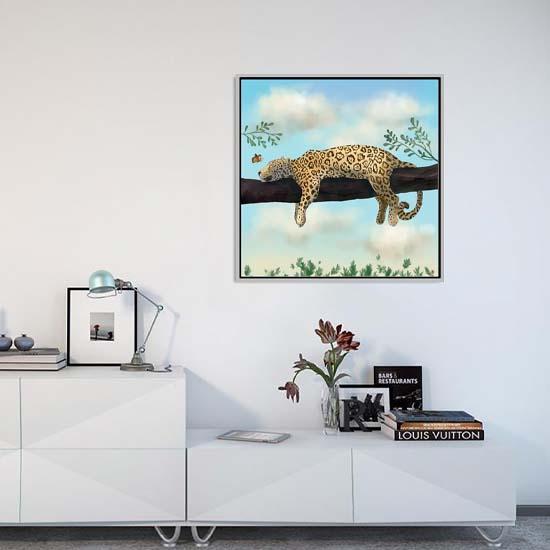 Icanvas Jaguar art print by Andreea Dumez