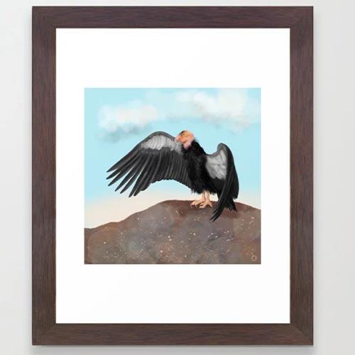 Condor bird Art print