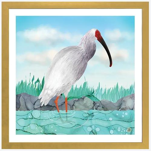 Japanese bird artwork by Andreea Dumez