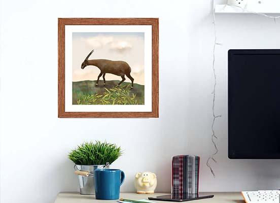 Saola animal - framed wall art
