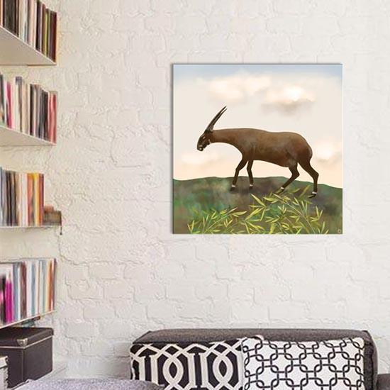 Saola animal art on iCanvas